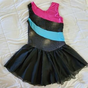 Gymnastics Leotard Rainbow Stripes Ballet Tutu